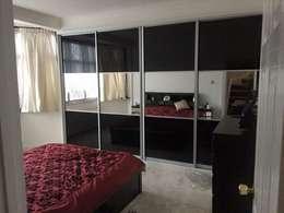 Dormitorios de estilo moderno por Smiths fitted wardrobes Ltd