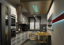 Projekty,  Kuchnia zaprojektowane przez BA DESIGN