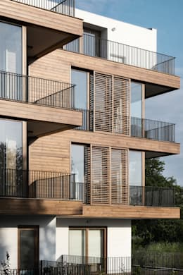 Atelye 70 Planners & Architects – K1 House Front View: modern tarz Evler