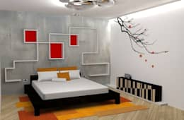 asian Bedroom by michel marchesi design