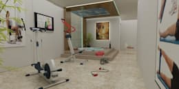 CANSEL BOZKURT  interior architect – VİLLA N'MODA: akdeniz tarzı tarz Fitness Odası