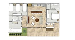 Projekty, egzotyczne Domy zaprojektowane przez Natali de Mello - Arquitetura e Arte