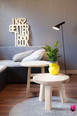 Mieszkanie w Łodzi - 48m2: styl , w kategorii Salon zaprojektowany przez Pink Pug Design Interior