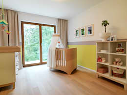 Quarto infantil  por Bermüller + Hauner Architekturwerkstatt