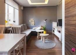 Pink Pug Design Interior: modern tarz Oturma Odası