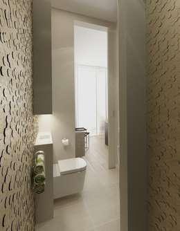 Minimalistyczny Dom Warszawa: styl , w kategorii Łazienka zaprojektowany przez The Vibe