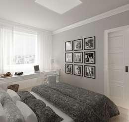 Apartament 39m2 Warszawa: styl , w kategorii Sypialnia zaprojektowany przez The Vibe