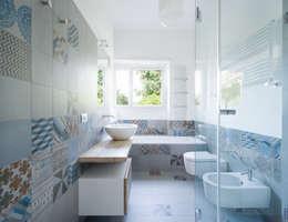 Projekty,  Łazienka zaprojektowane przez stefania eugeni