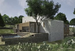 Atelye 70 Planners & Architects – Restorated House 2 - Back View: akdeniz tarzı tarz Evler