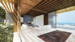 Atelye 70 Planners & Architects – New Sandima Houses Living Room: akdeniz tarzı tarz Oturma Odası