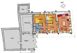Plan des aménagements intérieurs:  de style  par Marie GAMELON-VIALLET architecte