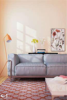 Salones de estilo moderno de Gianluca Muti Interior designer