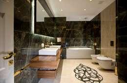 BABA MİMARLIK MÜHENDİSLİK – Yeşil Vadi Erguvan Evi, İstanbul.: modern tarz Banyo
