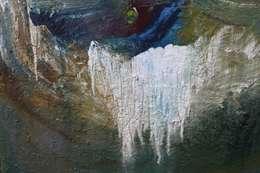 Waterval form. 1200 x 900 mm linnen :  Kunst  door Grothausen BNI
