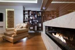 BABA MİMARLIK MÜHENDİSLİK – Yeşil Vadi Erguvan Evi, İstanbul.: modern tarz Oturma Odası