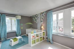modern Nursery/kid's room by 28 Grad Architektur GmbH