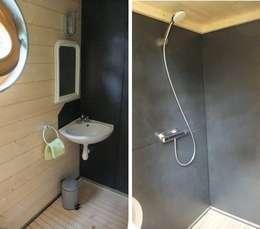 Une véritable salle d'eau équipée de tout le confort: Salle de bains de style  par Alter Ec'Home&