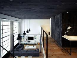 ofdesign Oskar Firek Loft Apartment antresola/gabinet: styl , w kategorii Domowe biuro i gabinet zaprojektowany przez OFD architects