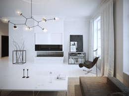ofdesign Oskar Firek Mono Apartment salon: styl , w kategorii Salon zaprojektowany przez OFD architects