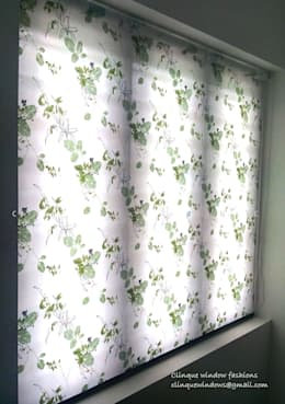 Printed Roller Blind:  Windows & doors  by Clinque window blind systems