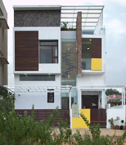 Mr.RAMKUMAR RESIDENCE , UTTRAHALLI, BANGALORE: minimalistic Houses by perspective architects
