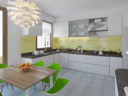 İNDEKSA Mimarlık İç Mimarlık İnşaat Taahüt Ltd.Şti. – Mutfak: modern tarz Mutfak