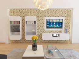 İNDEKSA Mimarlık İç Mimarlık İnşaat Taahüt Ltd.Şti. – Konut Projesi: modern tarz Oturma Odası