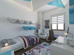 Projekty,  Sypialnia zaprojektowane przez İNDEKSA Mimarlık İç Mimarlık İnşaat Taahüt Ltd.Şti.