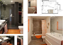 Baños de estilo moderno por elementos interiorismo y diseño