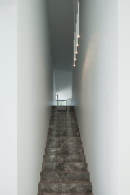DM Residence:  Gang en hal door CUBYC architects