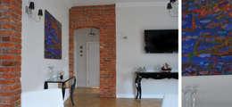Apartament w Sopocie - salon: styl , w kategorii Salon zaprojektowany przez Paszkiewicz Design
