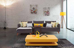 Trabcelona Design – lego mini corner: modern tarz Oturma Odası