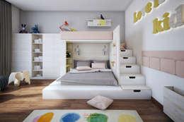 Recámaras infantiles de estilo minimalista por DA-Design