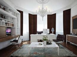 Suburban residential: Рабочие кабинеты в . Автор – DA-Design
