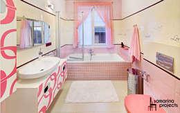 Мечта розовой феи : Ванные комнаты в . Автор – Samarina projects