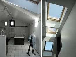 Maison Manet: Salle de bains de style  par Tout Va Bien - Stéphane Herpin architecte