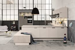 Warehouse kitchen design: industrial Kitchen by LWK Kitchens
