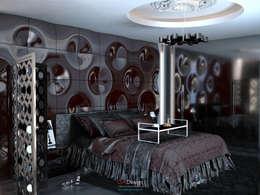 Glamour Apartment: Спальни в . Автор – DA-Design