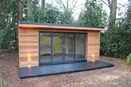 modern Study/office by Crusoe Garden Rooms Limited