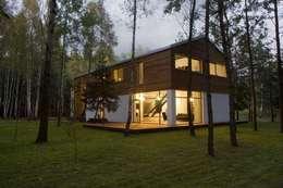 Dom w Czarnowie k/Konstancina: styl skandynawskie, w kategorii Domy zaprojektowany przez ANONIMOWI ARCHITEKCI