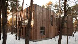 Dom w Józefowie: styl minimalistyczne, w kategorii Domy zaprojektowany przez ANONIMOWI ARCHITEKCI