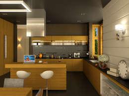 Дом в пос. Охта-Парк: Кухни в . Автор – oneione