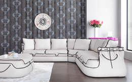 Trabcelona Design – medcezir corner: modern tarz Oturma Odası