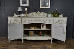4 Door Shabby Chic French Sideboard: classic Dining room by The Treasure Trove Shabby Chic & Vintage Furniture