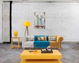 Trabcelona Design – CESTER CAPİTONE: modern tarz Oturma Odası