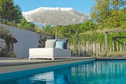 Parasols Sfera, Monroe en Flower: moderne Tuin door ONS | Ontwerpstudio Nathalie Schellekens