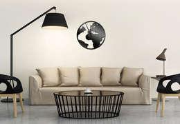 Welt Uhr:  Wände & Boden von K&L Wall Art
