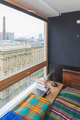 New Fifties: styl , w kategorii Sypialnia zaprojektowany przez kacper gronkiewicz architekt