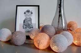 Cotton ball lights - girlandy: styl , w kategorii Pokój dziecięcy zaprojektowany przez Qule
