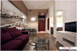DVUPAK - loft MOODY: styl , w kategorii Salon zaprojektowany przez Borowczyk Architekci
